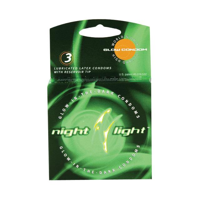 Night Light Glow-In-The-Dark Condoms (3 Pack)