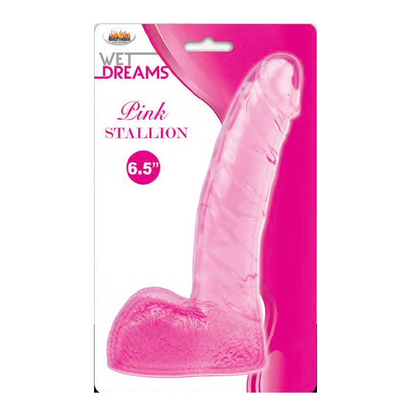 Wet Dreams Stallion Dildo W/Balls-Pink