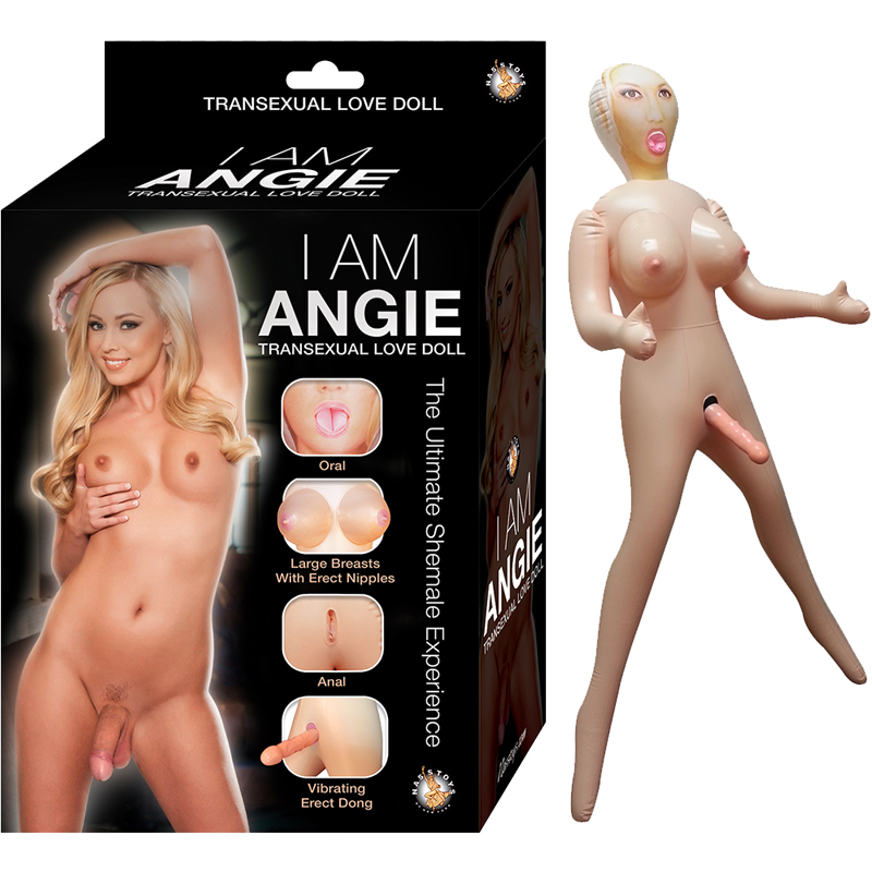 I Am Angie Transexual Love Doll With Variable Speed 7in Dong